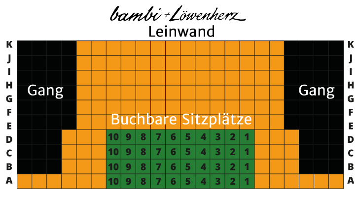 bambi + Löwenherz Kino-Sitzplan