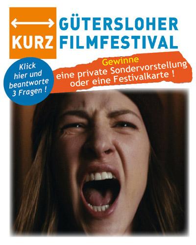 Gütersloher Kurzfilmfestival Gewinnspiel